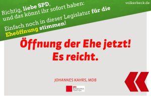 Sharepic Eheöffnung SPD Kahrs